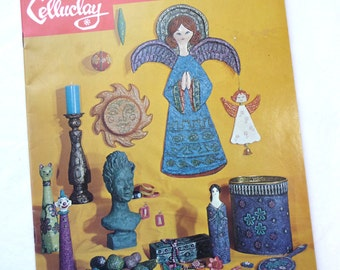 Vintage Paper Mache Booklet, Instant Papier Mache, MOM, Celluclay, Craft Supplies, Instructions, Activa, Vintage 1967, Paper Mache Patterns