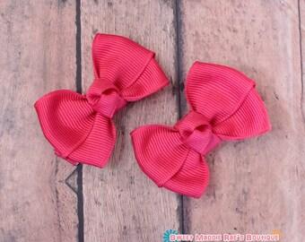 Girls Hair Bows-Shocking Pink--2 Inches