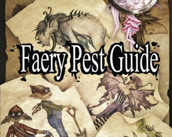 Art BOOK Faery Pest Guide by Amy Brown signed by artist
