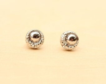 Small Silver Orb Studs
