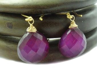 Pink Topaz Earrings, Doublet Pink Topaz Earrings, Black Lip Oyster Earrings, Statement Earrings In Gold,Drop Dangle Topaz Earrings OOAK
