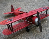 Red Metal Airplane Model Red Baron Iron Cross