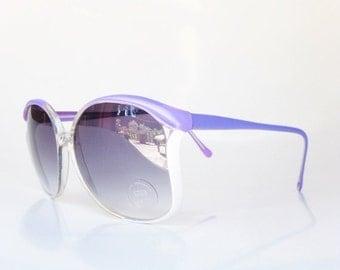 SALE Vintage Purple Sunglasses 1970s Lilac Sunnies Womens Ladies Oversized Huge Pastel Girly Festival Coachella Sunwear Sun Wear NOS Deadsto
