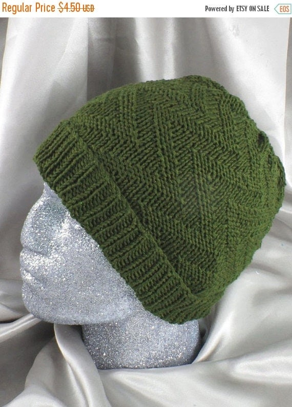 HALF PRICE SALE Instant Digital File pdf download knitting pattern - Zig Zag Beanie hat pdf download knitting pattern by madmonkeyknits
