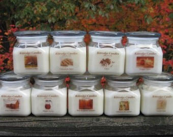 AUTUMN COLLECTION - One 10-oz Soy Jar Candle (15% discount)