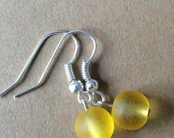 Frost yellow earrings