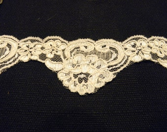 """Stunning white lace trim 2""""W  Polyester 2 1/2 yards"""