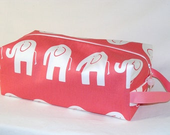 SPECIAL PRICE - Ele the Elephant on Coral Sweater Bag