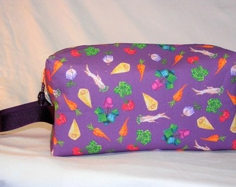 Square Roots on Purple Project Bag  - Premium Fabric