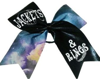 Jackets & Rings Cheer Hair Bow
