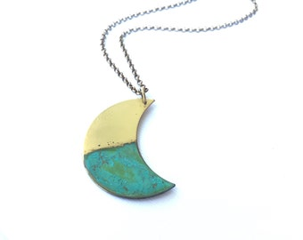 Rising Tide Crescent Moon Necklace