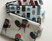 Reusable Machine Washable Zippered BPA-Free Snack-Loc Large Sandwich Small Snack Bag - Burly Macho Beaver Thermos Rustic Red Buffalo Plaid