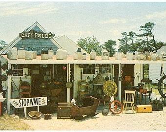 Vintage Cape Cod Postcard - Capt. Peleg Antiques Shop, West Dennis (Unused)
