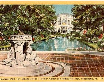 Vintage Philadelphia Postcard - Fairmount Park (Unused)