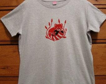 Red Panda in Bamboo Ladies T-Shirt