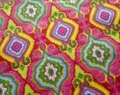 Bohemian Print Fabric By The Yard, Hippie Fabric, Indian Block Print Fabric, Damask Print Gypsy Fabric, Lightweight Dressmaking Fabric