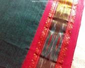 Indian Print Fabric, Gaye Holud Saree Fabric By The Yard, Border Print Fabric, Muslin Saree, Sari Fabric India, Indian Sari Fabric