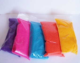 Five 4 Ounce Bags of Sanding Sugar in Five Colors