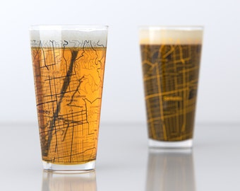 Berkeley, CA - UC Berkeley - College Town Pint Glasses