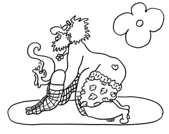 the hound funny sexy coloring pages for adults from the chubby art cartoon colouring book - Cartoon Colouring Book