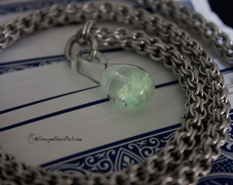 Glow In The Dark Mushroom Pendant Necklace, Rope Chainmail