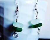 Aqua and Green Irish Sea Glass Center-Drilled Drops