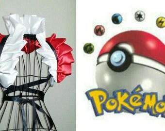 Anime Pokemon Misty Cosplay Harley Quinn Collar Bolero Shrug Emo Burlesque Costume