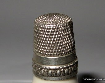 Simons Sterling Silver Thimble Size 9 Hand Sewing Quilting