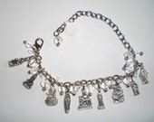 Clear Faceted Crystal Holy Mary Religious Charm Bracelet Catholic Jewelry Gift