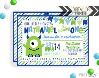 Monster Birthday Invitation   Digital or Printed   Little Monster Invitation   Monster Invitation   Monster Invite   Monster Party Invite