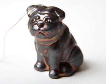 Pug Dog Ornament Gold for the Tree or Just for Fun to Hang Out