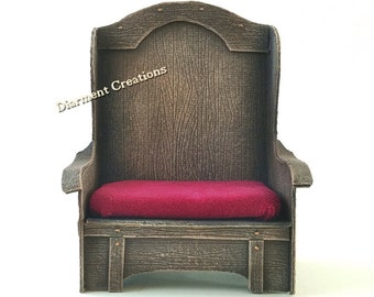 Throne Chair Loveseat Miniature 1:12 scale