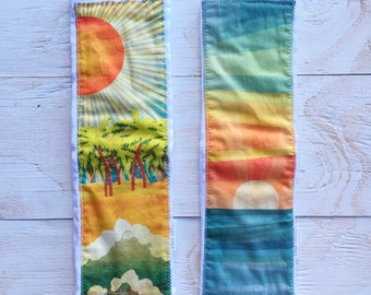 Hawaii / Tropical Baby Burp Cloth Gift Set - Ocean / Sunset / Palm Trees Baby Burp Cloth - Maui, Hawaii by bitty bambu