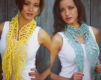Cotton Scarf Lace Summer Lightweight Scarf Mesh Beach Scarf Handmade Cotton Scarf Lightweight Scaletta Scarf - CHOOSE Your Color