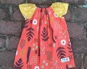 Fern peasant style dress