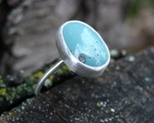 Little Leland Blue Stone Silver Ring No. 5