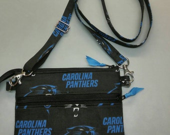 "Carolina Panthers NFL stadium size 4.5"" x 6.5"" cross body purse"