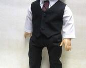 "Black Dress Suit for 18"" Boy Dolls"