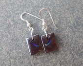 Boulder Opal jewelry - small square Opal earings - handmade in Australia by NaturesArtMelbourne