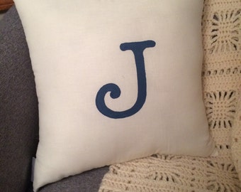 Initial Pillow (Small Size)
