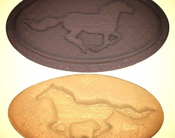 "Kentucky Derby horse cookie cutter stamp 4""x2"",  Kentucky derby cookie cutter, Horse cookie cutter, mustang cookie cutter"