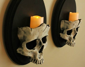 Set of Skull Sconces Pre Order