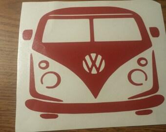 VW Volkswagen Spilty Bus Van Vinyl Decal Sticker 5 x 5