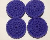 4 Nylon Dish Scrubbies Purple