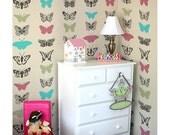 Butterflies Allover Stencils - Better Than Wallpaper - Reusable Stencil For DIY Decor