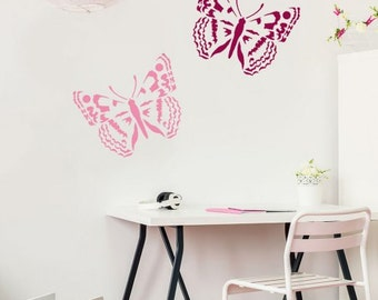 Admiral Butterfly Wall Stencil - Size: Small - Better than Decals - Reusable Wall Stencils to Create Your Own Wall Pattern