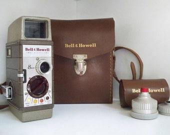 Vintage Electronics Camera Movie Camera Bell & Howell 8mm 1960's Movie Camera