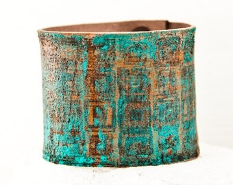 Turquoise Jewelry Cuff Bracelet Wristband - New Leather Cuffs - Teal Accessories