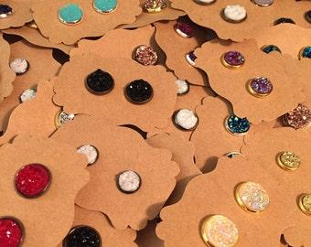 Mystery Druzy Earrings, Grab Bag, Drusy Earrings, Druzy Jewelry, Drusy Jewelry, Buy 2 Get 2 Free, Druzy Stud Post Earring