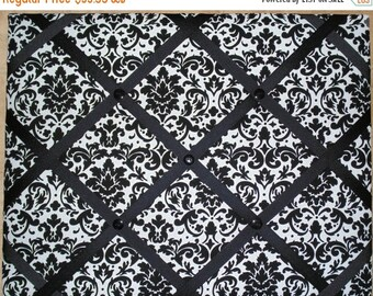 BACK TO SCHOOL Black and White Damask Print French Memo Board  with Your choice Ribbon - 16 x 20  - French Memory Board - Bulletin Board - F